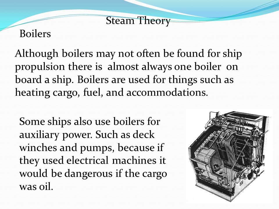Steam Theory Boilers.