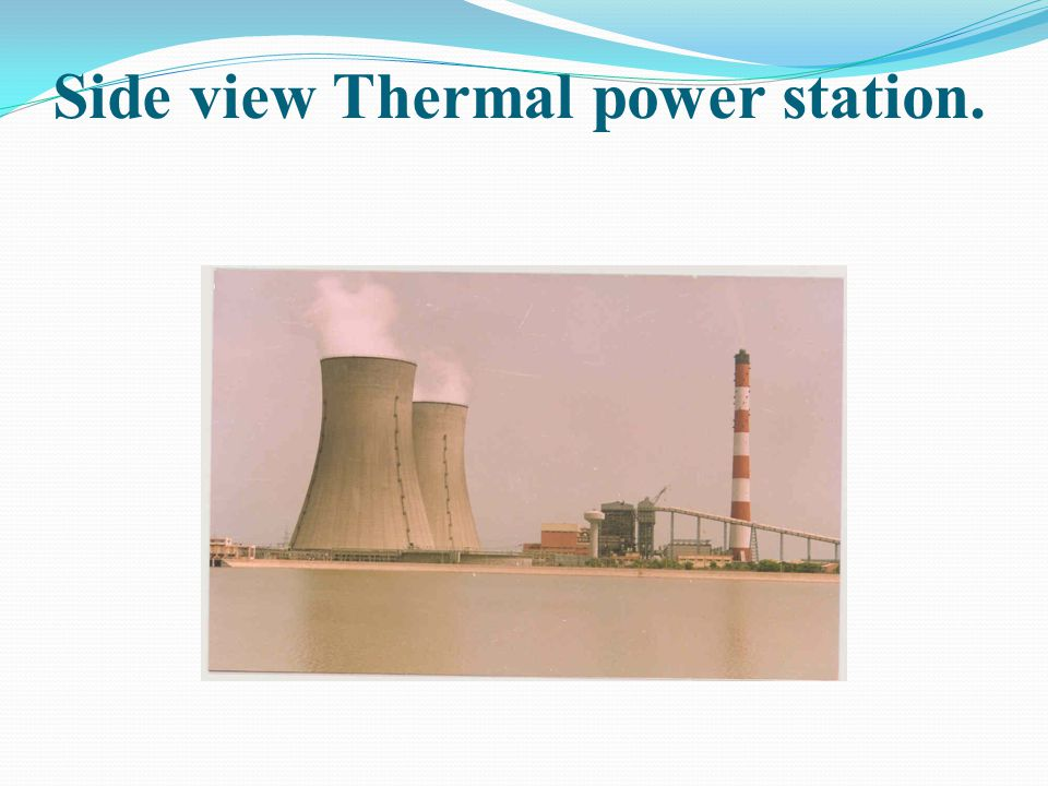 Side view Thermal power station.