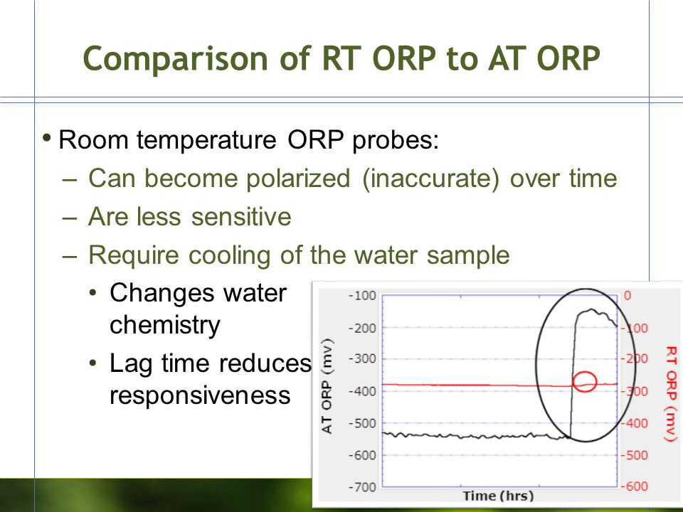 Comparison of RT ORP to AT ORP
