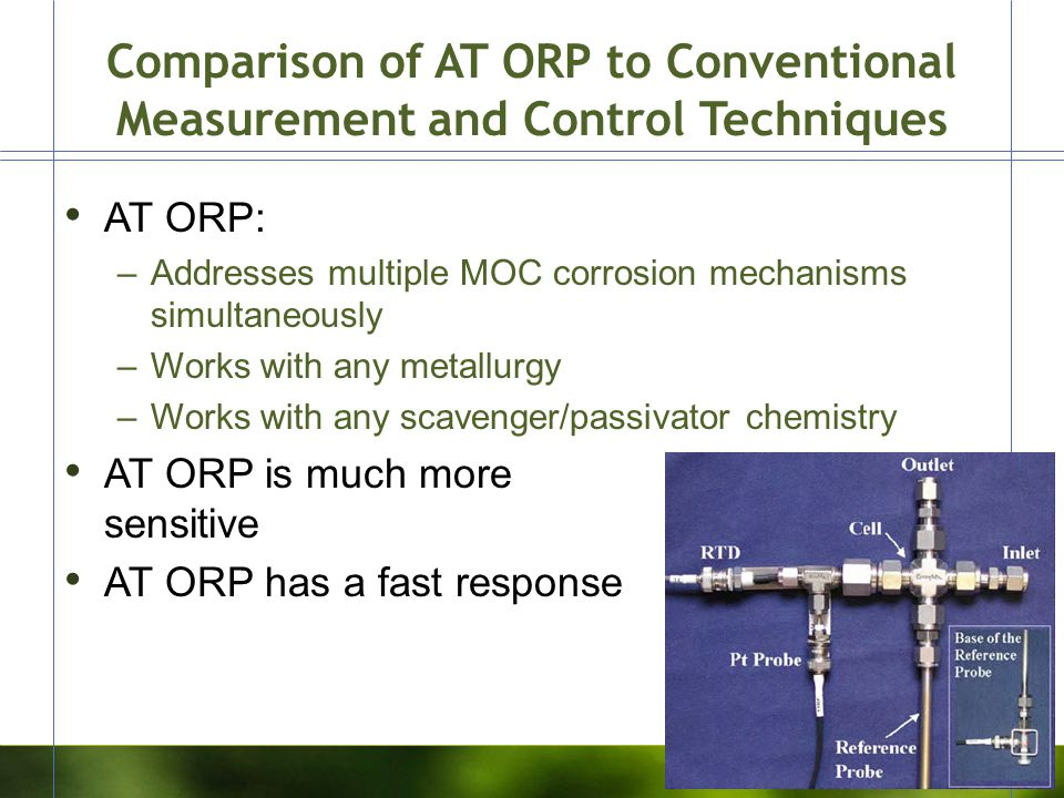 Comparison of AT ORP to Conventional Measurement and Control Techniques