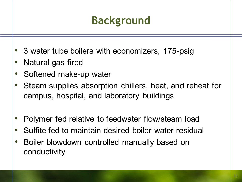 Background 3 water tube boilers with economizers, 175-psig