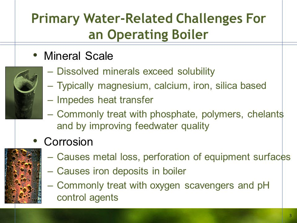 Primary Water-Related Challenges For an Operating Boiler