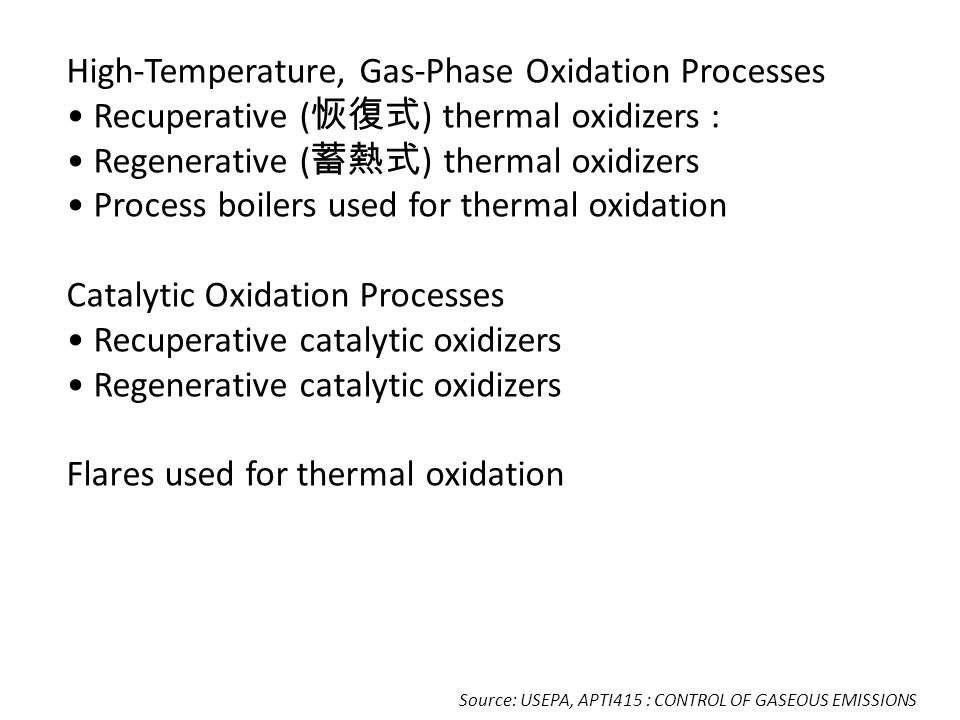 High-Temperature, Gas-Phase Oxidation Processes