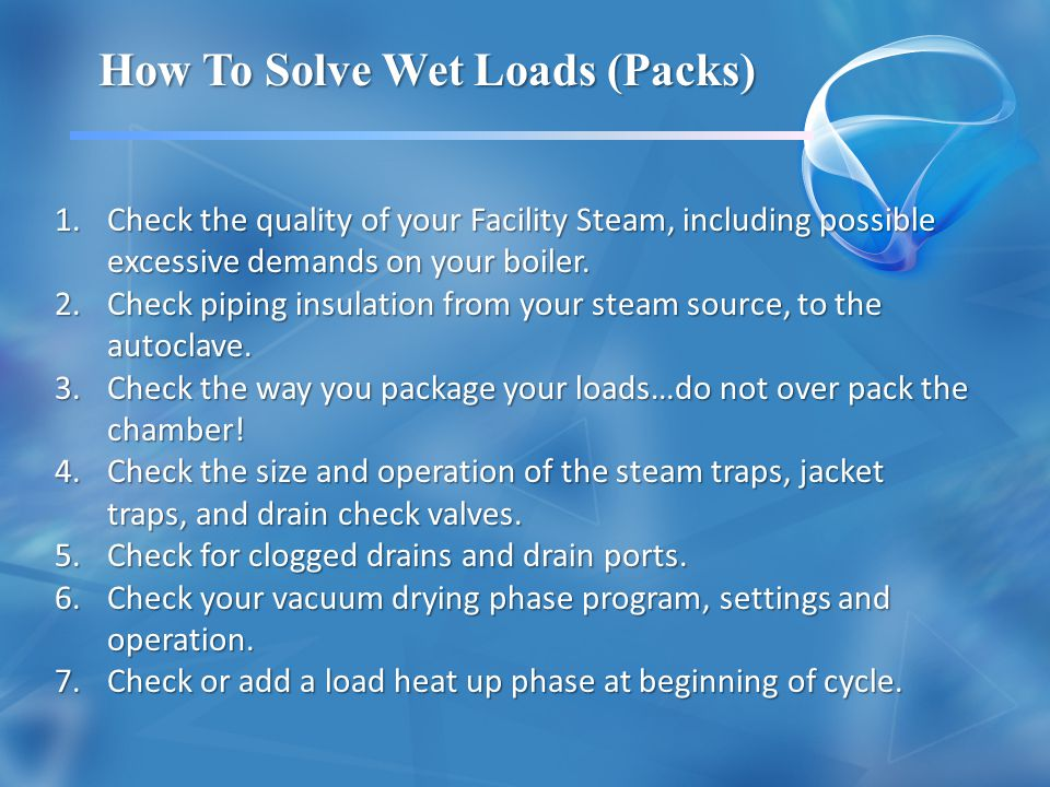 How To Solve Wet Loads (Packs)