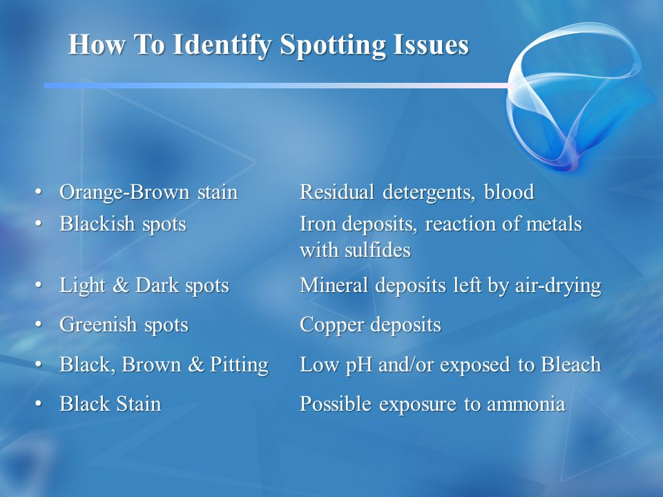 How To Identify Spotting Issues
