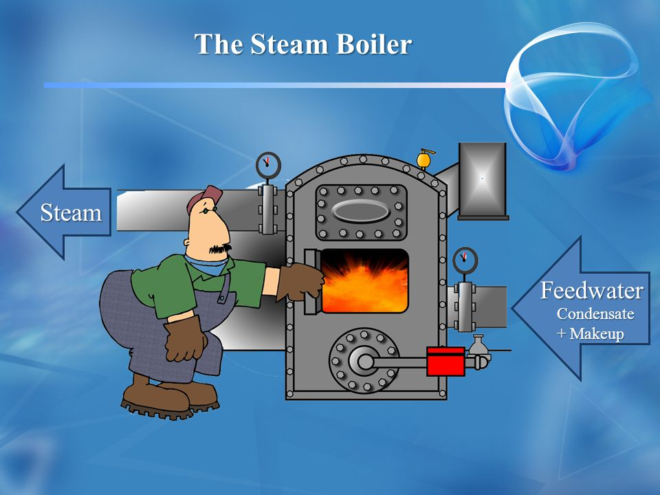 The Steam Boiler Steam Feedwater Condensate+ Makeup