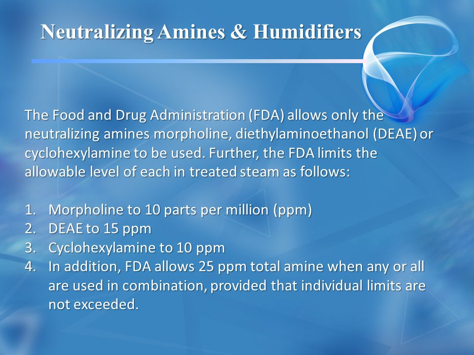 Neutralizing Amines & Humidifiers