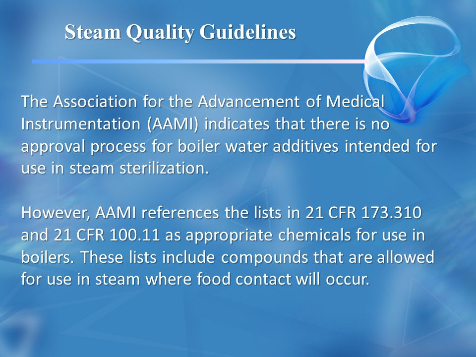 Steam Quality Guidelines