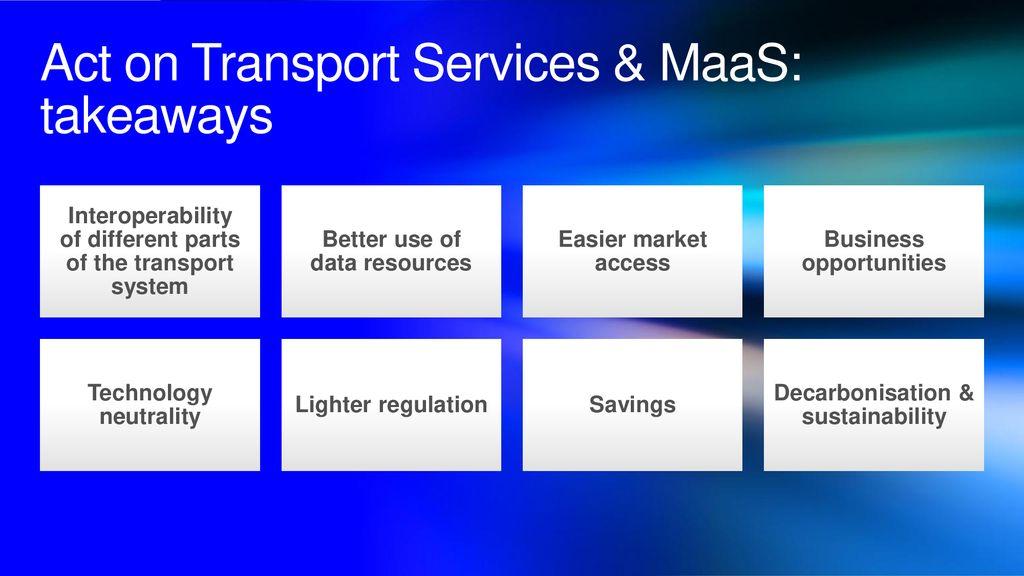 Enabling MaaS through legislation - ppt download