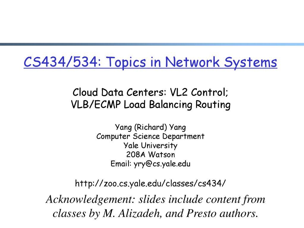 Ecmp load balancing method cisco