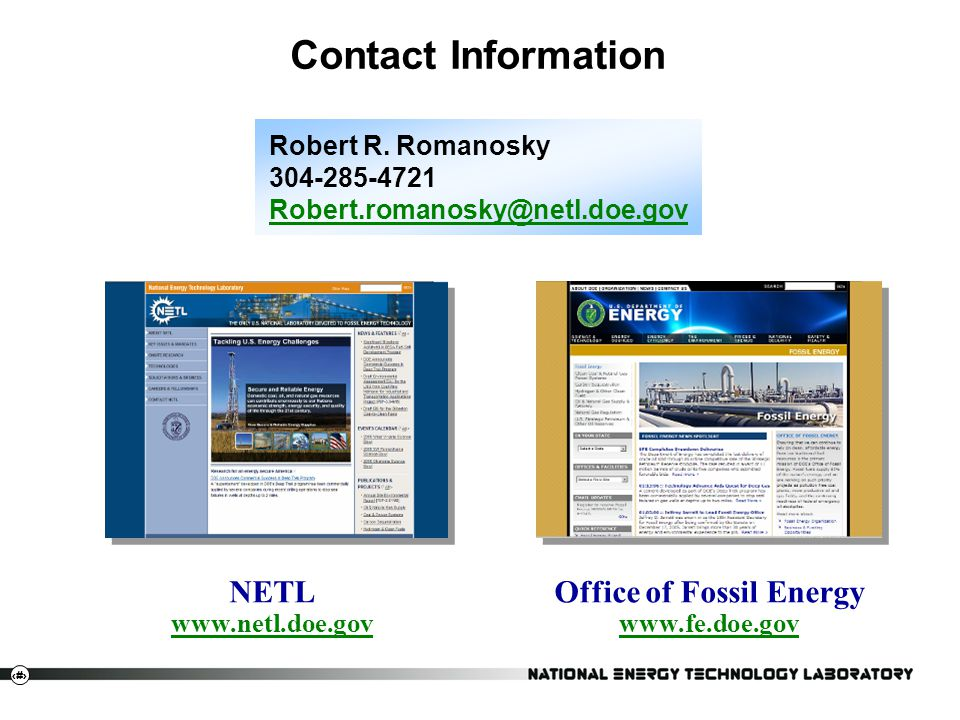 Office of Fossil Energy www.fe.doe.gov