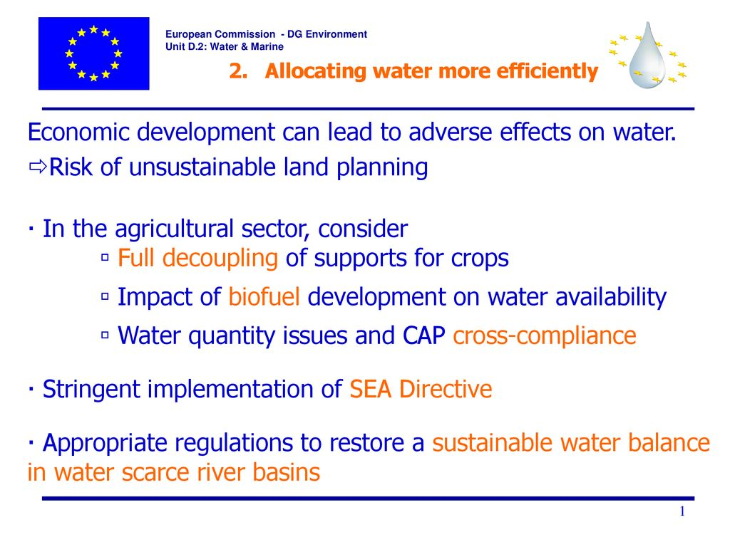 More On Adverse Developmental Impacts >> Addressing The Challenge Of Water Scarcity And Droughts Ppt Download