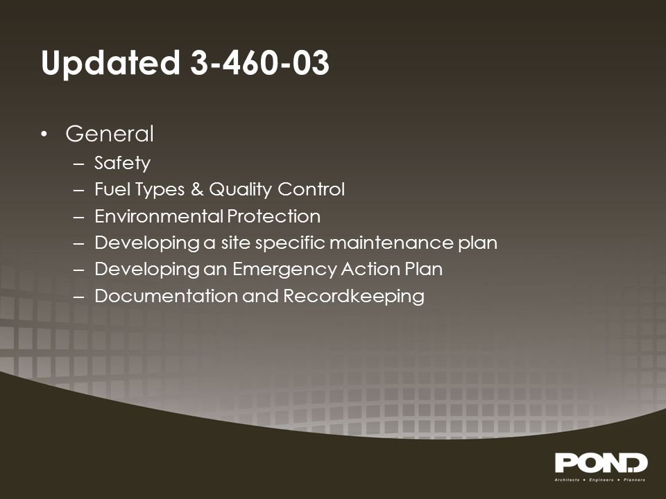 Updated 3-460-03 General Safety Fuel Types & Quality Control