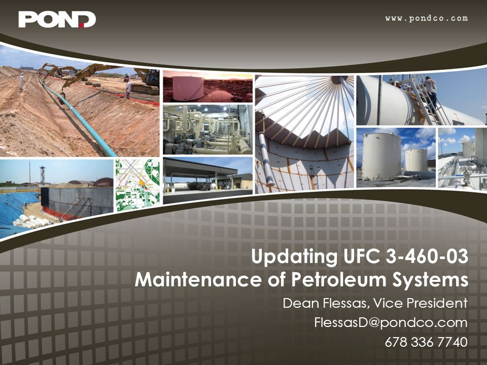 Updating UFC 3-460-03 Maintenance of Petroleum Systems