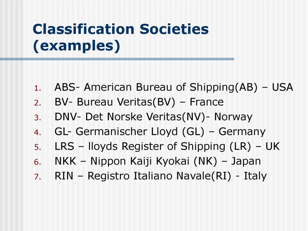 Classification Societies - ppt download