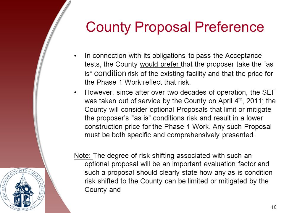 County Proposal Preference