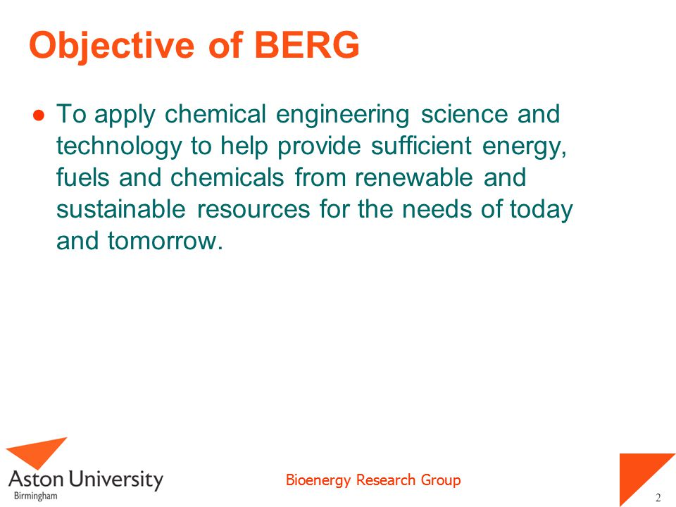 Objective of BERG