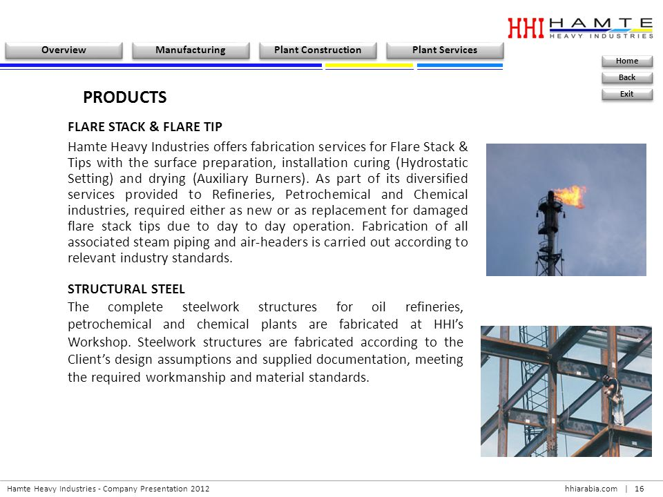 PRODUCTS FLARE STACK & FLARE TIP