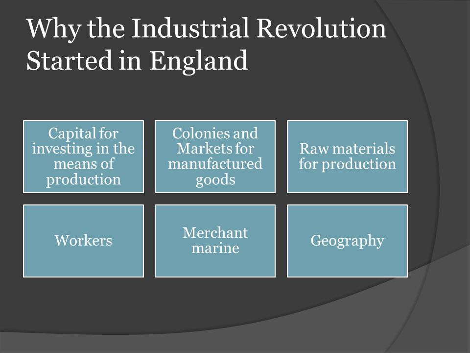 Why the Industrial Revolution Started in England