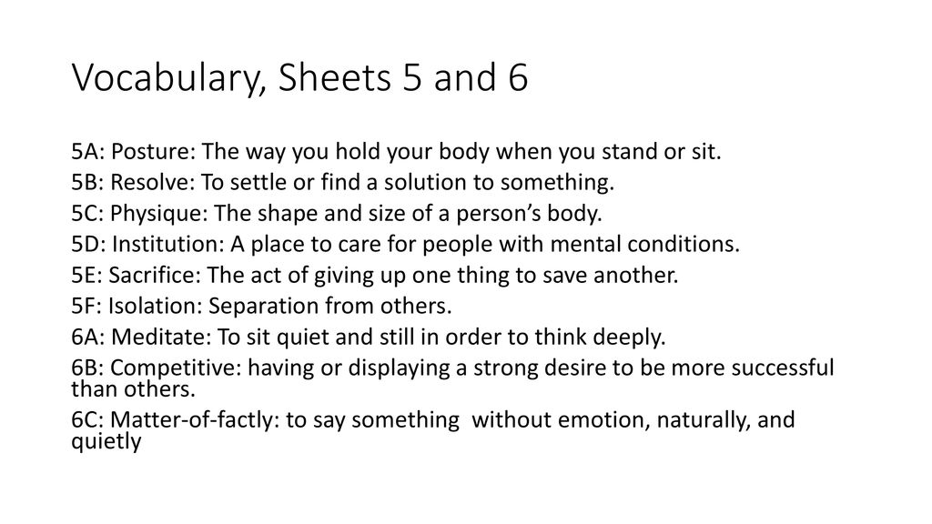 Warm Up Take A Sheet Choose At Least Two Of The Following Four