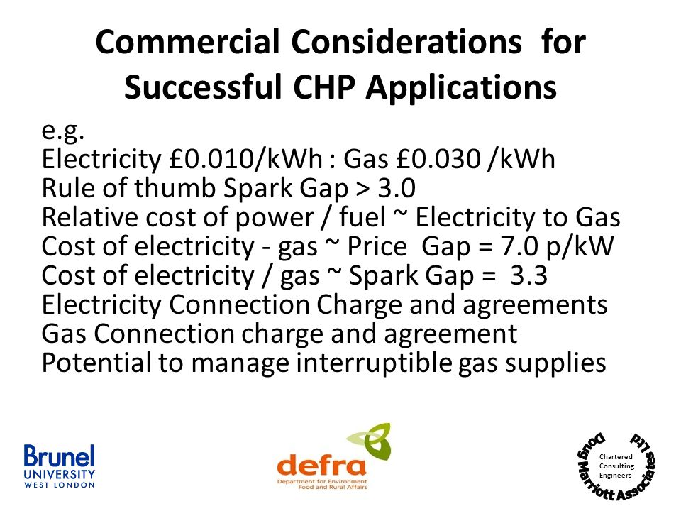 Commercial Considerations for Successful CHP Applications