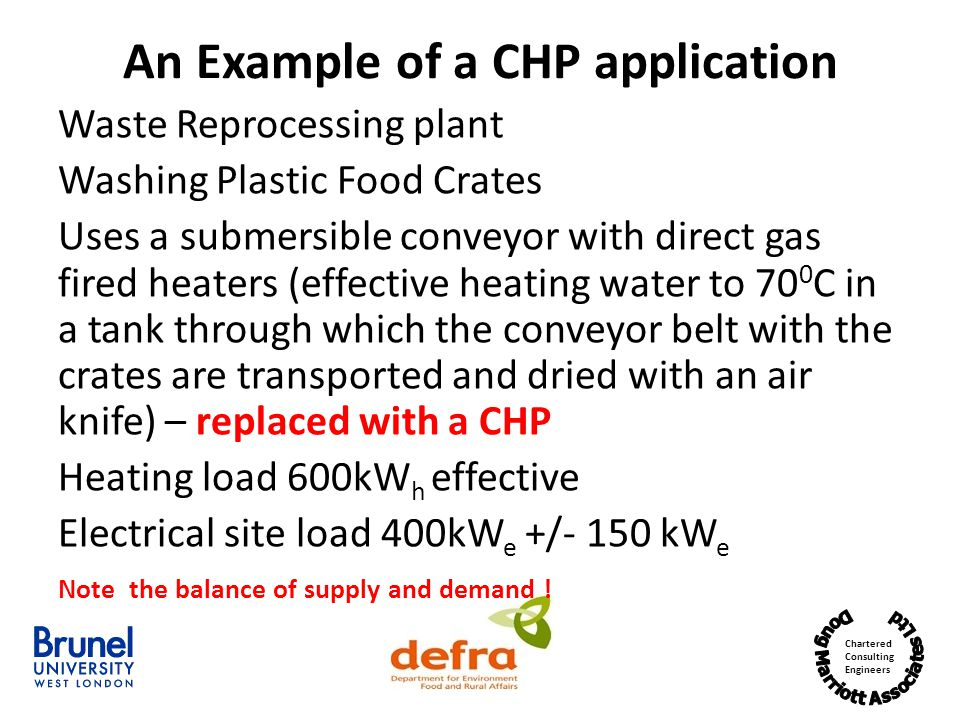 An Example of a CHP application
