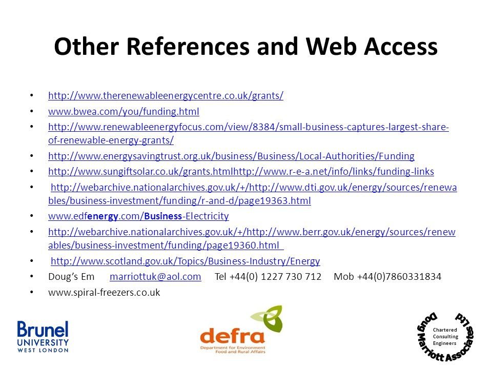 Other References and Web Access