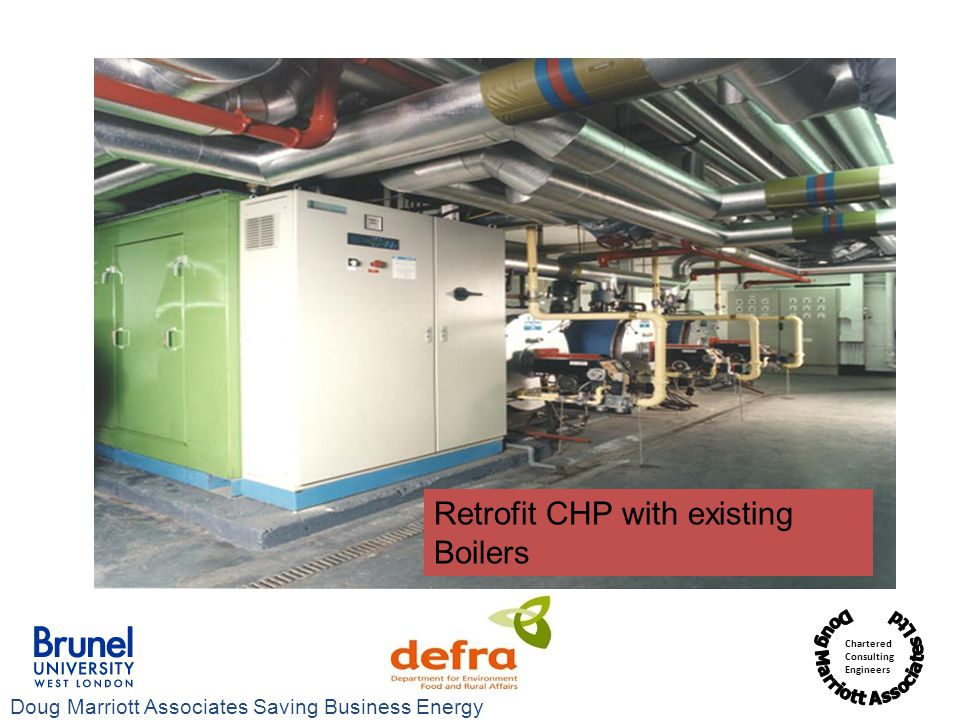 Retrofit CHP with existing Boilers