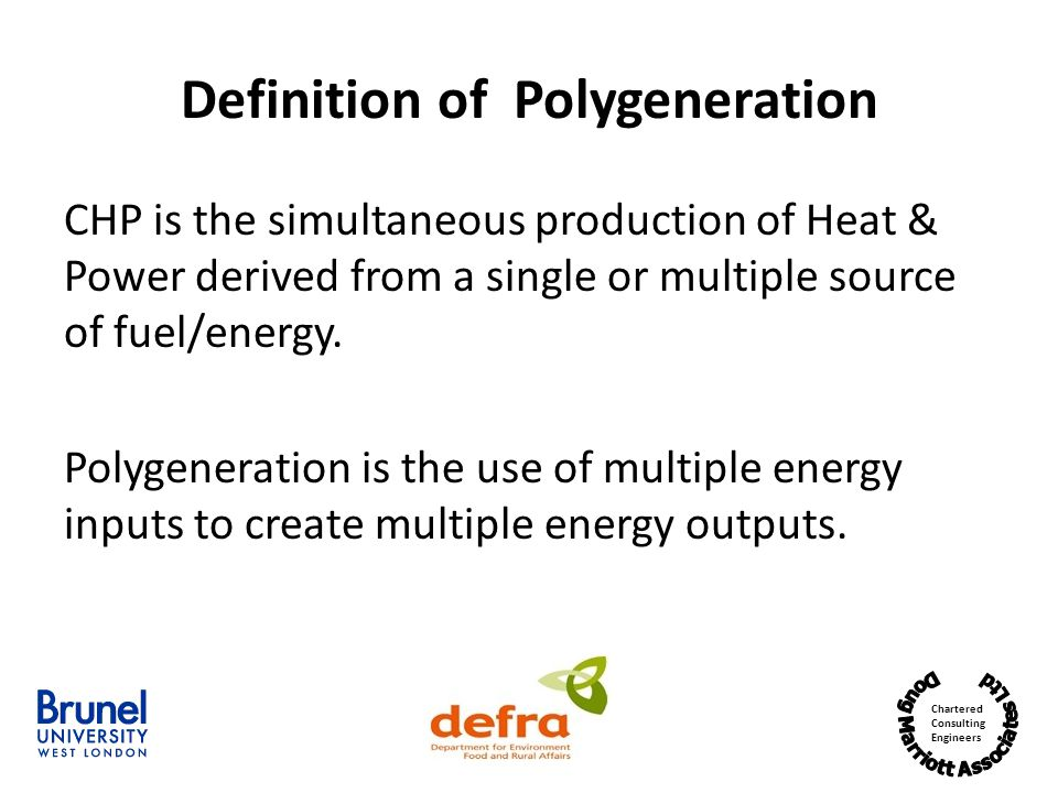 Definition of Polygeneration