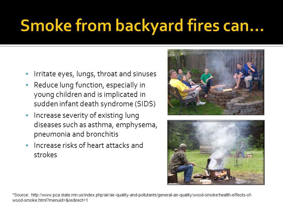 Smoke from backyard fires can…
