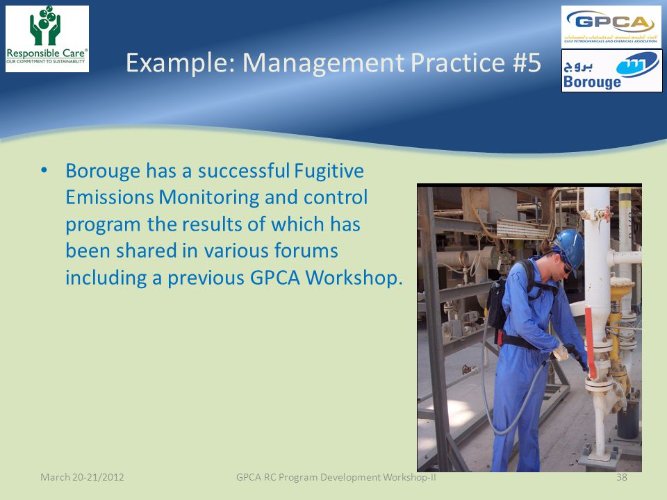 Example: Management Practice #5