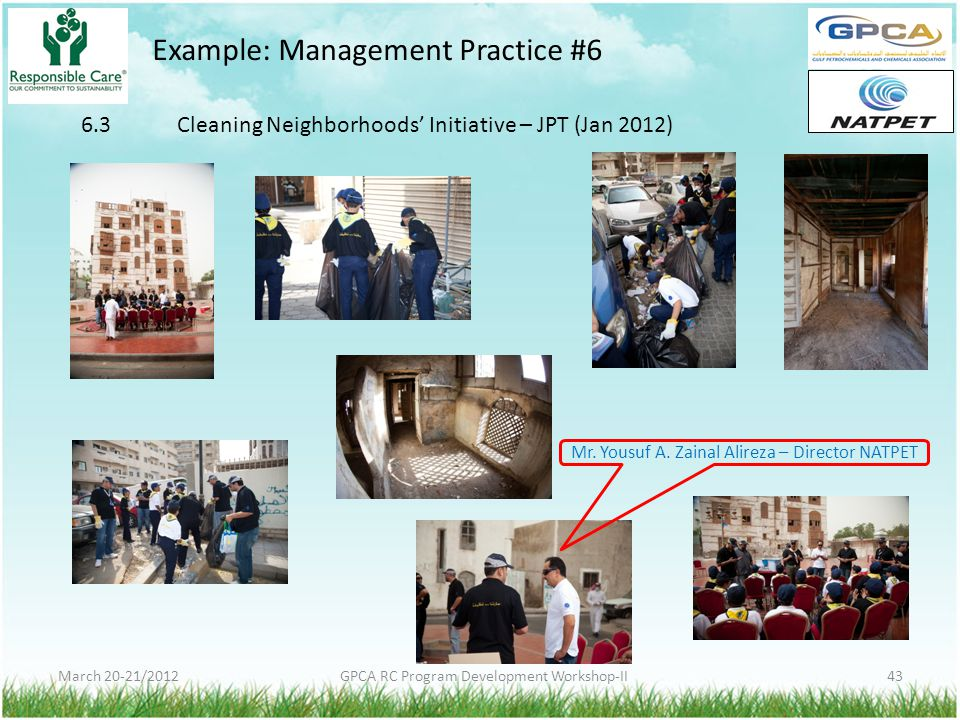 Example: Management Practice #6