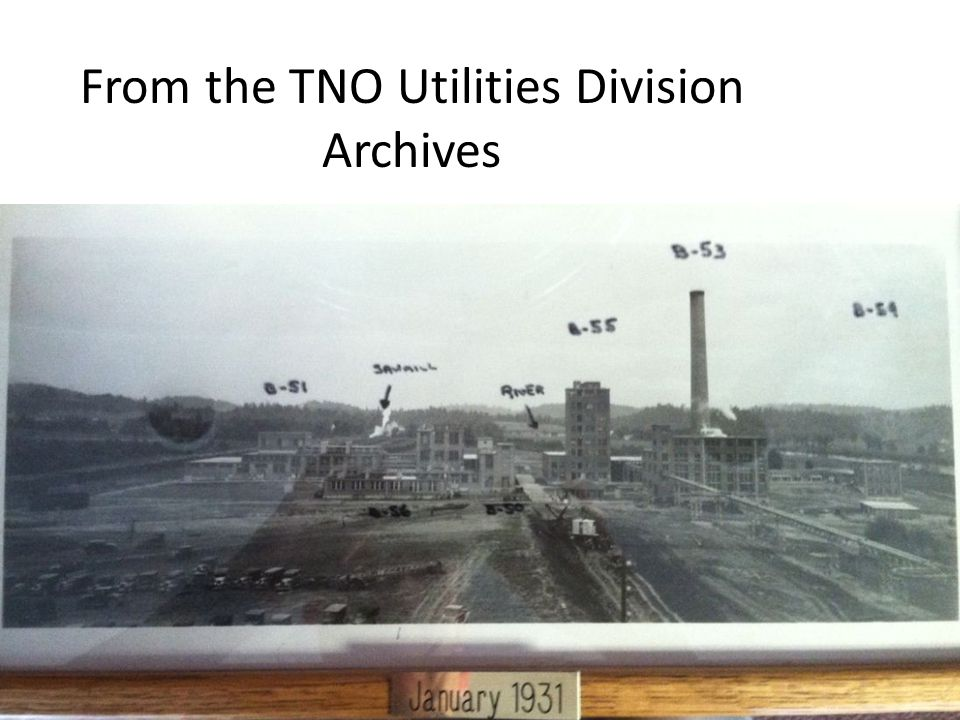 From the TNO Utilities Division Archives