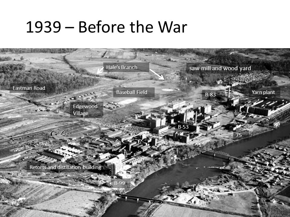 1939 – Before the War saw mill and wood yard Hale's Branch
