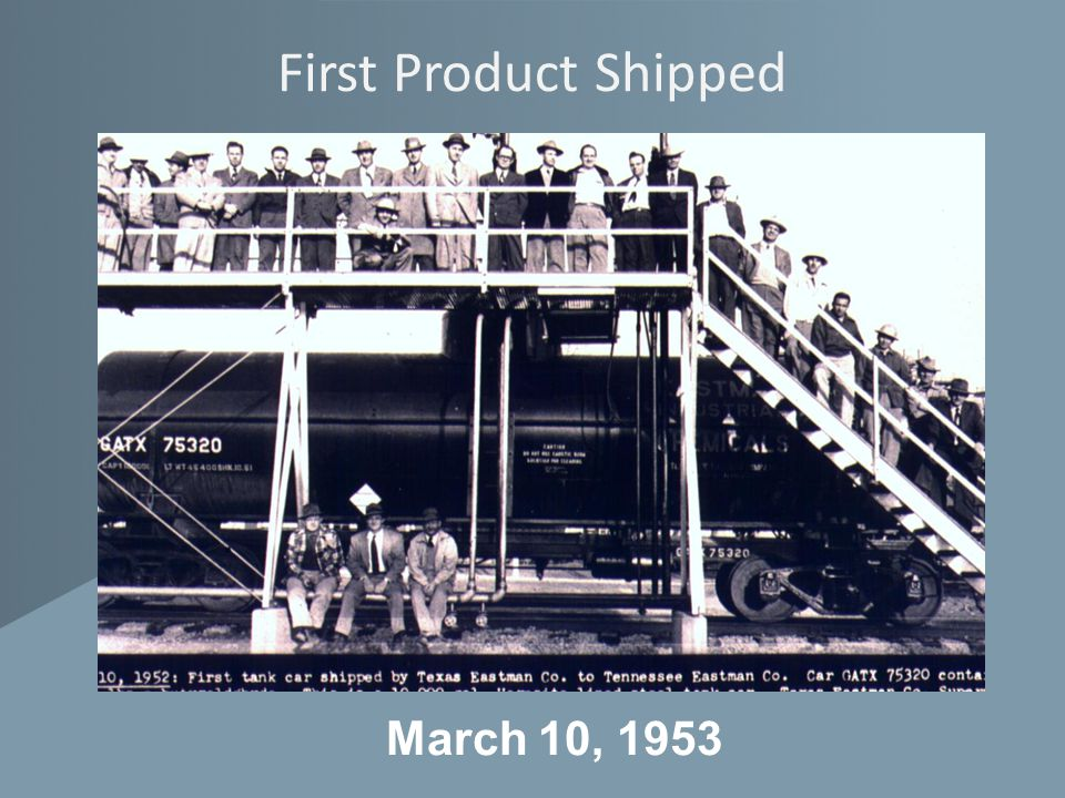 First Product Shipped March 10, 1953