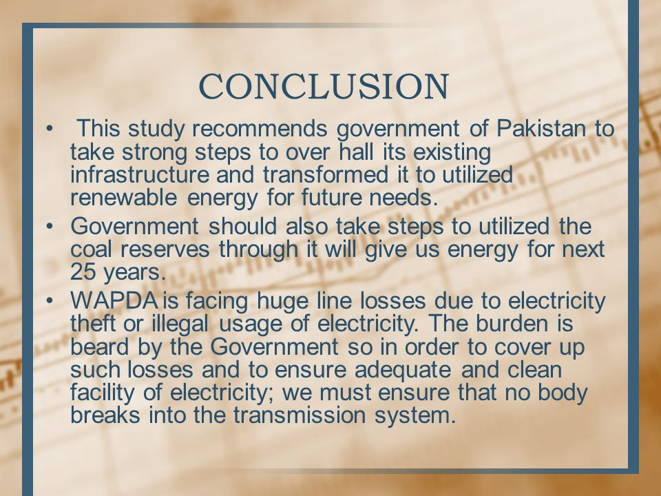 conclusion of energy crisis