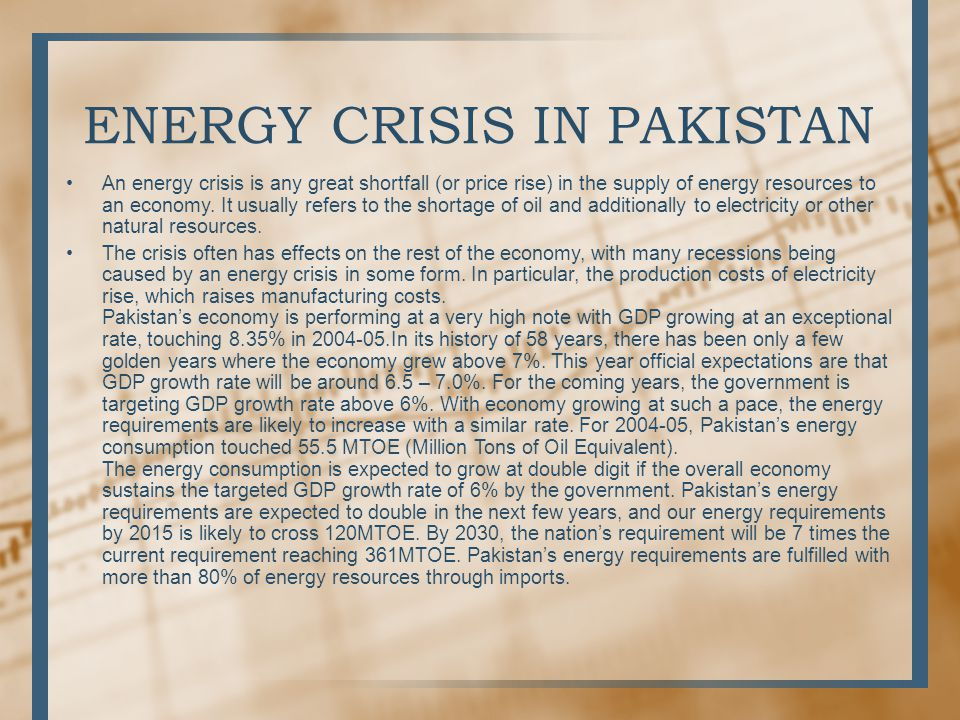 essay electricity crisis pakistan Why is there electricity crisis in pakistan why pakistan is not using nuclear power to generate more electricity to meet the need starting with the first part putting aside the basic facts that corruption is rampant and the government is incompetent in managing the resources, let's look at some.