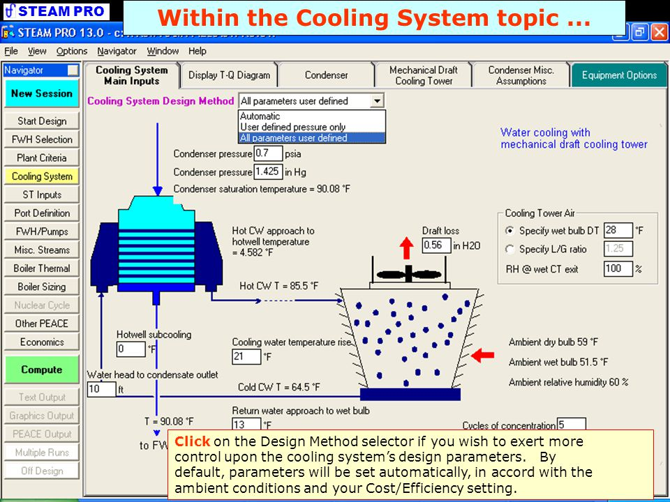 Within the Cooling System topic ...