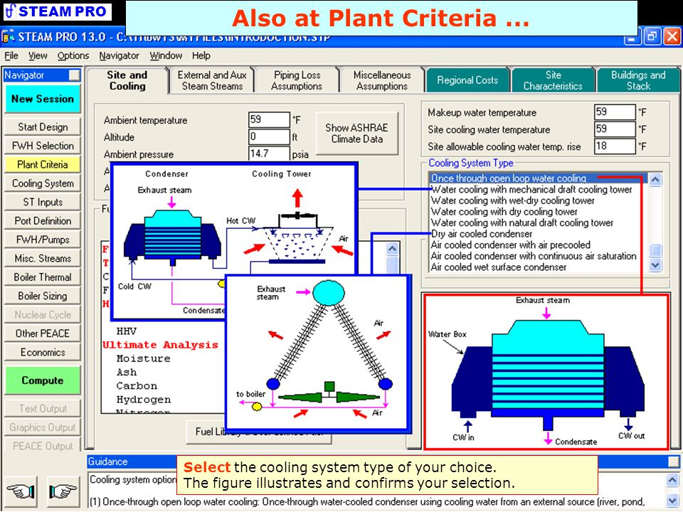 Also at Plant Criteria ... Select the cooling system type of your choice.