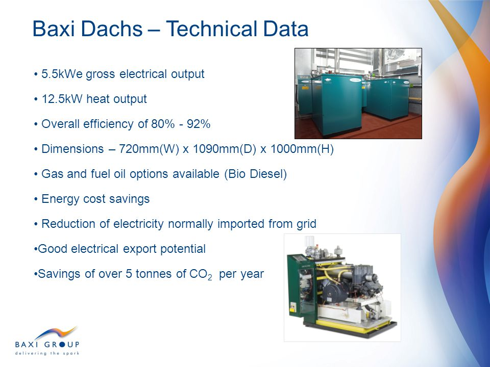 Baxi Dachs – Technical Data
