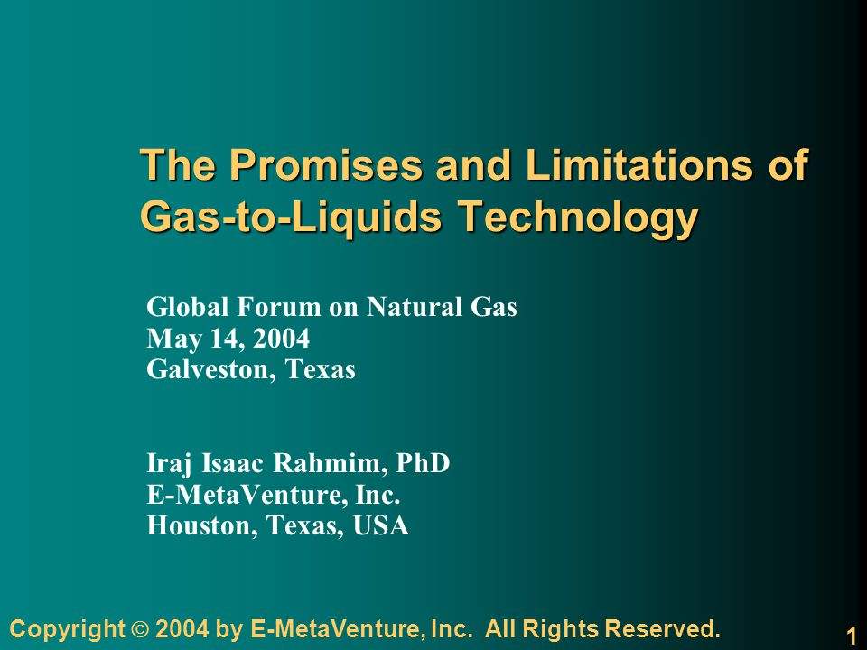 The Promises and Limitations of Gas-to-Liquids Technology
