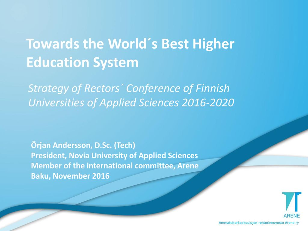 Towards the World´s Best Higher Education System - ppt download