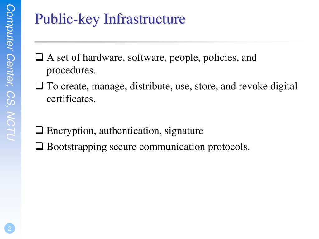 Public-key Infrastructure - ppt download