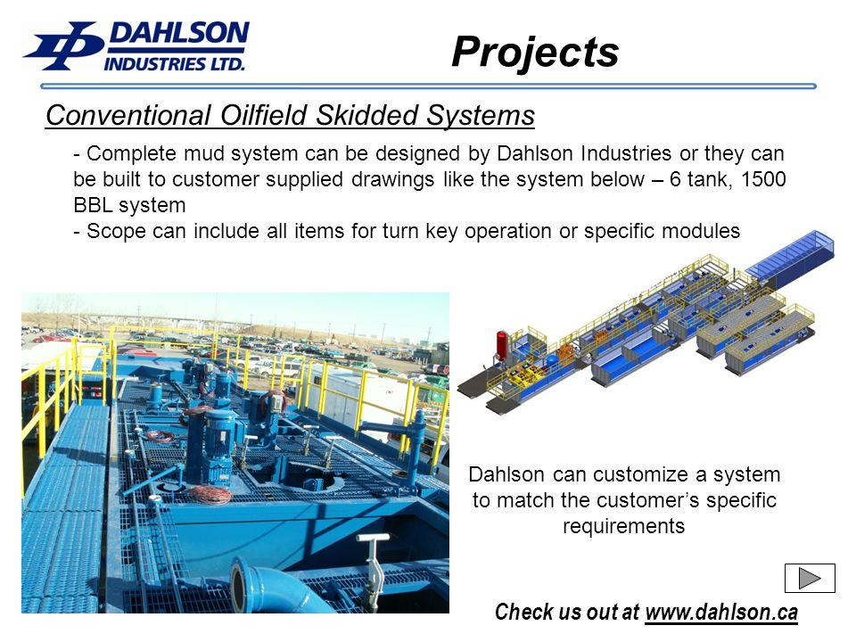 Projects Conventional Oilfield Skidded Systems