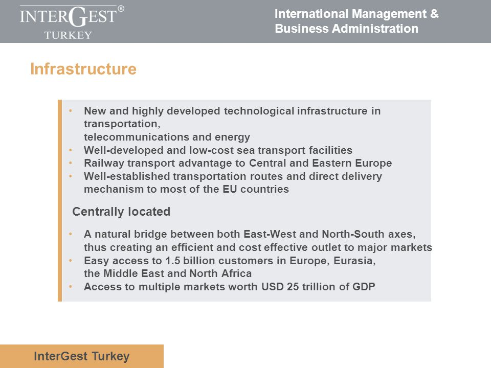 Infrastructure Centrally located