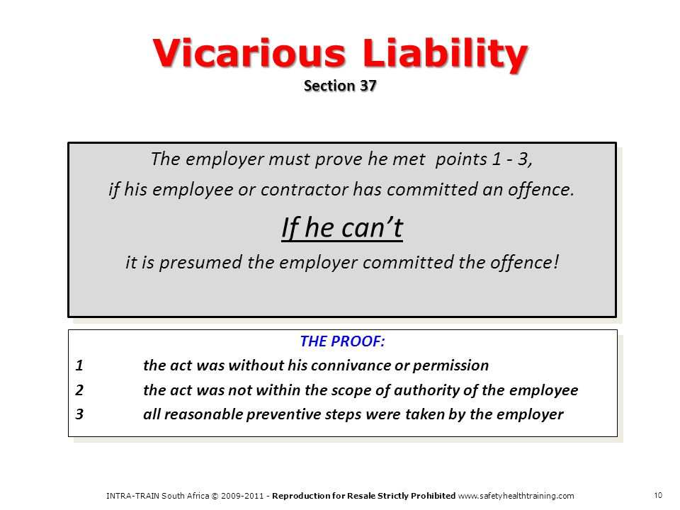 Vicarious Liability Section 37