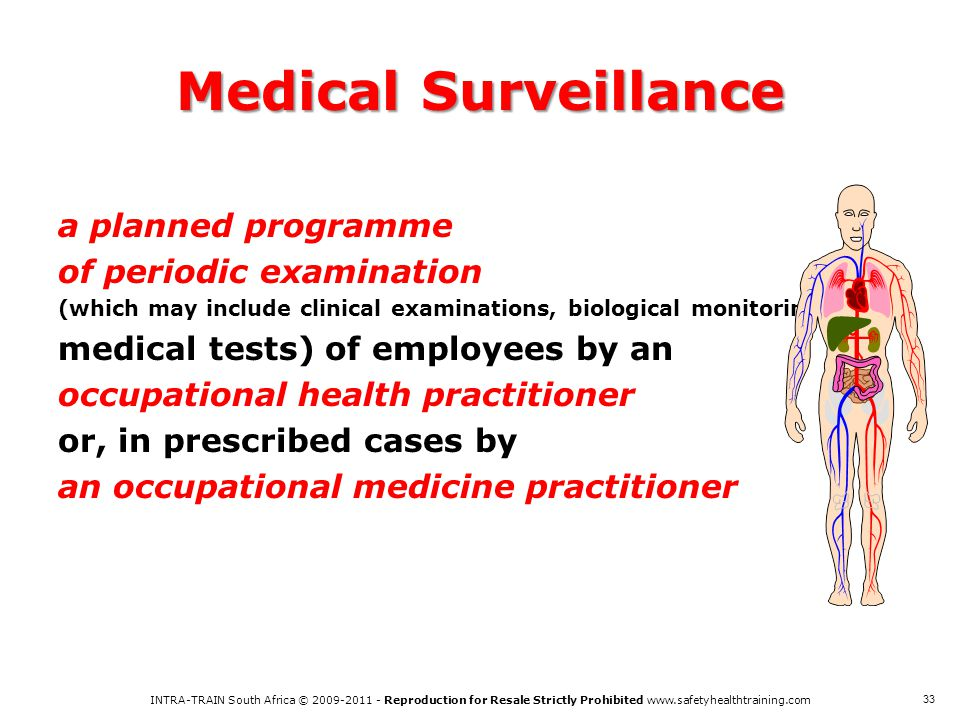 Medical Surveillance a planned programme of periodic examination