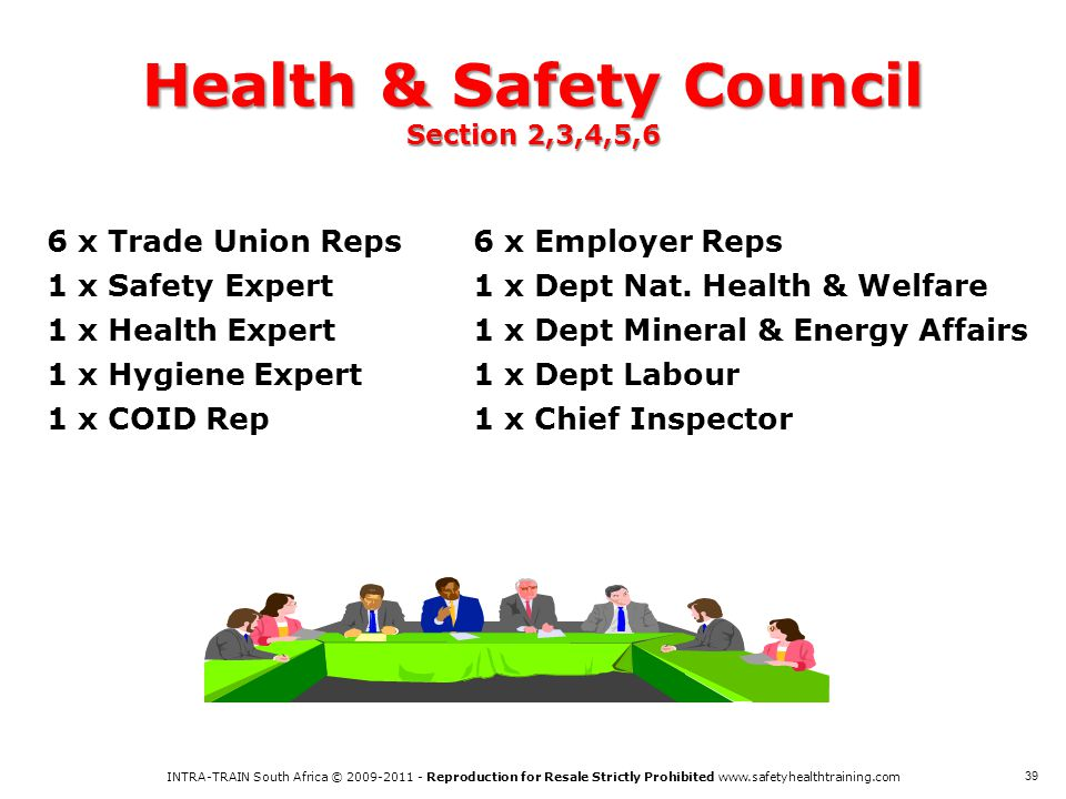 Health & Safety Council Section 2,3,4,5,6