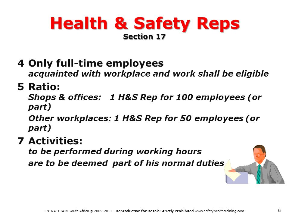 Health & Safety Reps Section 17