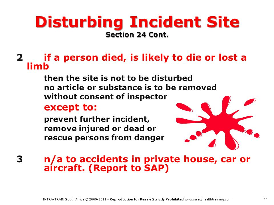 Disturbing Incident Site Section 24 Cont.